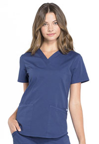 Cherokee Workwear V-Neck Top Navy (WW665-NAV)