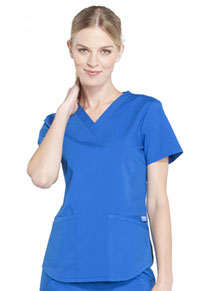 Cherokee Workwear V-Neck Top Royal (WW665-ROY)