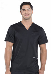 Cherokee Workwear Men's V-Neck Top Black (WW670-BLK)