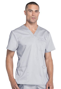 Cherokee Workwear Men's V-Neck Top Grey (WW670-GRY)