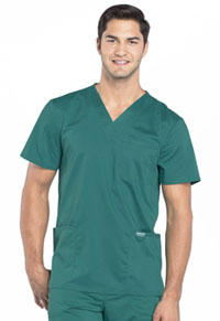 Cherokee Workwear Men's V-Neck Top Hunter Green (WW670-HUN)