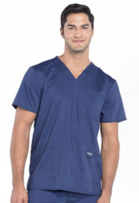 Cherokee Workwear Men's V-Neck Top Navy (WW670-NAV)