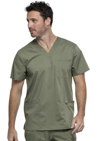 Cherokee Workwear Men's V-Neck Top Olive (WW670-OLV)