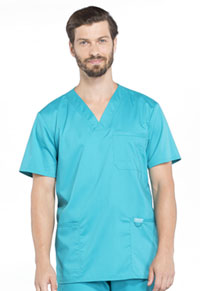 Cherokee Workwear Men's V-Neck Top Teal Blue (WW670-TLB)