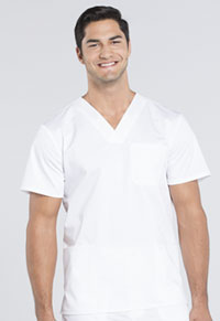 Men's V-Neck Top (WW670-WHT)
