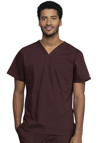 Cherokee Workwear Men's V-Neck Top Espresso (WW675-ESP)