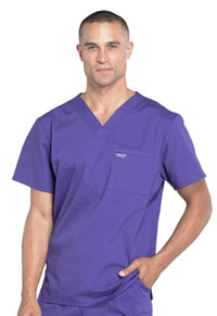 Cherokee Workwear Men's V-Neck Top Grape (WW675-GRP)