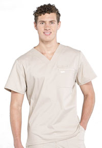 WW Professionals Men's V-Neck Top (WW675-KAK) (WW675-KAK)