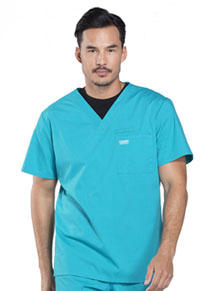 WW Professionals Men's V-Neck Top (WW675-TLB) (WW675-TLB)