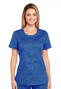 Cherokee Workwear Round Neck Top Royal (WW683-ROYW)