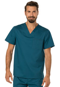 Cherokee Workwear Men's V-Neck Top Caribbean Blue (WW690-CAR)