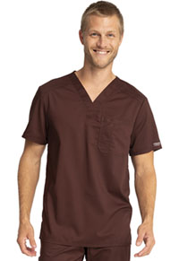 Cherokee Workwear Men's V-Neck Top Espresso (WW690-ESP)