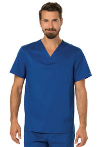 Cherokee Workwear Men's V-Neck Top Galaxy Blue (WW690-GAB)