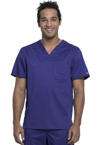 Cherokee Workwear Men's V-Neck Top Grape (WW690-GRP)