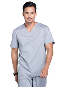 Cherokee Workwear Men's V-Neck Top Grey (WW690-GRY)