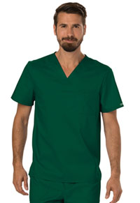 Cherokee Workwear Men's V-Neck Top Hunter Green (WW690-HUN)