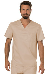 Cherokee Workwear Men's V-Neck Top Khaki (WW690-KAK)