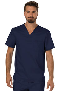 Cherokee Workwear Men's Tuckable V-Neck Top Navy (WW690-NAV)