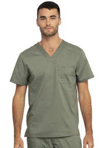 Cherokee Workwear Men's V-Neck Top Olive (WW690-OLV)