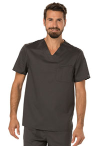 Cherokee Workwear Men's V-Neck Top Pewter (WW690-PWT)