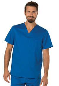 Cherokee Workwear Men's V-Neck Top Royal (WW690-ROY)