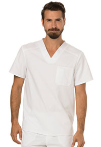 Cherokee Workwear Men's V-Neck Top White (WW690-WHT)