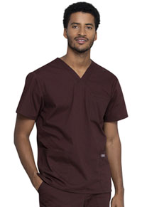 Cherokee Workwear Men's V-Neck Top Espresso (WW695-ESP)