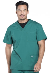 Cherokee Workwear Men's V-Neck Top Hunter Green (WW695-HUN)