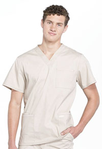 Cherokee Workwear Men's V-Neck Top Khaki (WW695-KAK)