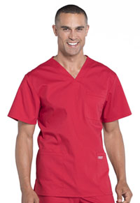 Workwear WW Professionals Men's V-Neck Top (WW695-RED) (WW695-RED)