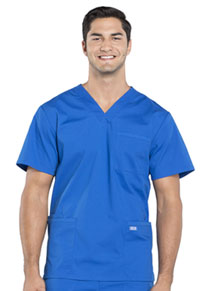 Cherokee Workwear Men's V-Neck Top Royal (WW695-ROY)