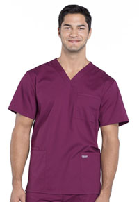 Workwear WW Professionals Men's V-Neck Top (WW695-WIN) (WW695-WIN)