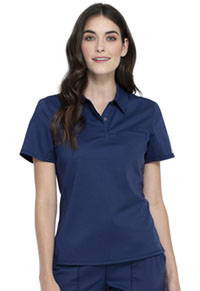 Cherokee Workwear Snap Front Polo Shirt Navy (WW698-NAV)