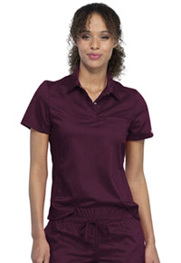 Cherokee Workwear Snap Front Polo Shirt Wine (WW698-WIN)