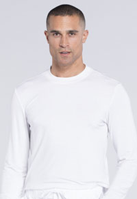 Workwear WW Professionals Men's Underscrub Knit Top (WW700-WHT) (WW700-WHT)