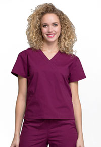 WW Professionals Mock Wrap Top (WW705-WIN) (WW705-WIN)