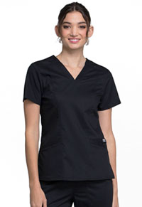 Cherokee Workwear V-Neck Top Black (WW710-BLK)