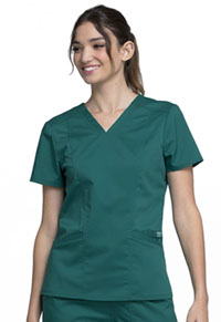 Cherokee Workwear V-Neck Top Hunter Green (WW710-HUN)