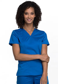 Cherokee Workwear V-Neck Top Royal (WW710-ROY)