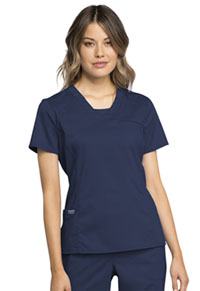 Cherokee Workwear V-Neck Top Navy (WW735-NAV)