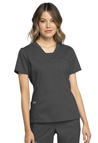 Cherokee Workwear V-Neck Top Pewter (WW735-PWT)