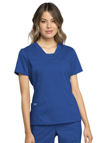 Cherokee Workwear V-Neck Top Royal (WW735-ROY)