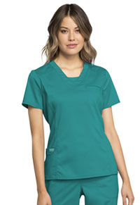 Cherokee Workwear V-Neck Top Teal Blue (WW735-TLB)