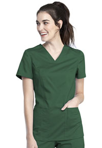 Cherokee Workwear V-Neck Top Hunter Green (WW741AB-HUN)