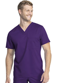 Cherokee Workwear Unisex Tuckable V-Neck Top Eggplant (WW742AB-EGG)