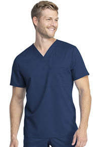 Cherokee Workwear Unisex Tuckable V-Neck Top Navy (WW742AB-NAV)