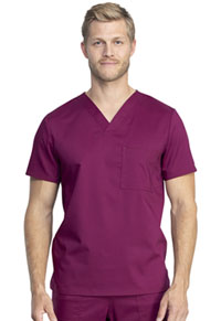 Cherokee Workwear Unisex Tuckable V-Neck Top Wine (WW742AB-WIN)