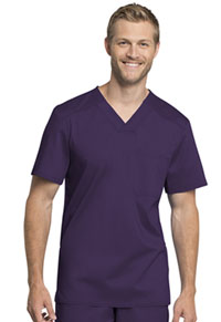 Cherokee Workwear Men's Tuckable V-Neck Top Eggplant (WW755AB-EGG)