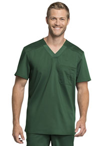 Cherokee Workwear Men's V-Neck Top Hunter Green (WW755AB-HUN)