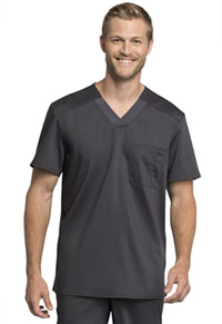 Cherokee Workwear Men's V-Neck Top Pewter (WW755AB-PWT)